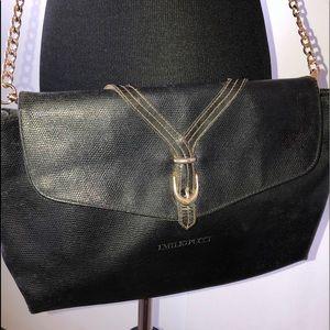 Emilio Pucci Leather Envelope Crossbody/Clutch
